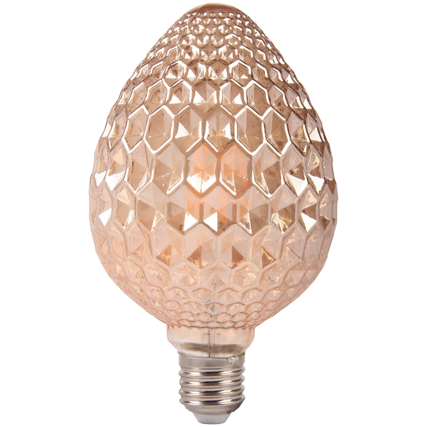 Lampadina LED filamento E27 6W ambrato elegante Strawberry Lamp